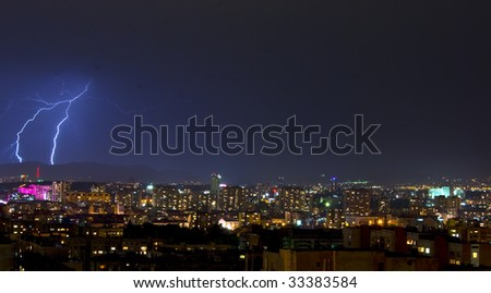Thunderbolt over the city