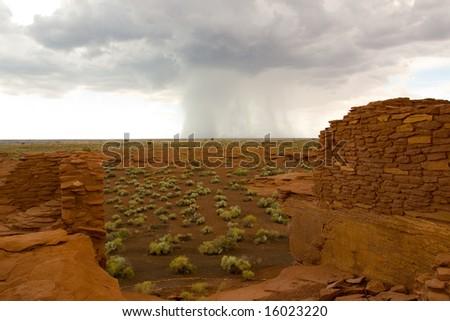 Thunderstorm at Wupaki National Monument - stock photo