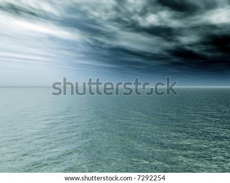 Thunderstorm coming - stock photo