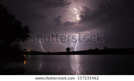 Thunderstorm over the river