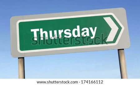 Thursday week next or following day schedule concept for appointment or event in agenda  - stock photo