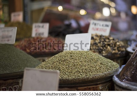 Thyme seed in a famous local bazaar in Gaziantep, Turkey.