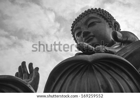 Tian Tan Buddha, also known as the Big Buddha, is a large bronze statue of a Buddha Amoghasiddhi, located at Ngong Ping, Lantau Island, in Hong Kong