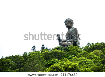 Tian Tan Buddha at Po Lin Monastery. A famous big buddha in Hong kong