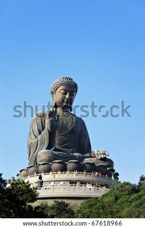 Tian Tan Buddha in Hong Kong - stock photo