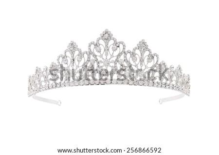 tiara on a white background - stock photo