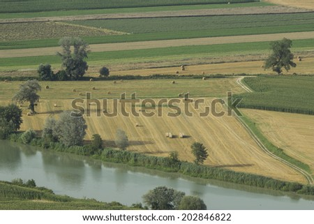 Tiber valley landscape