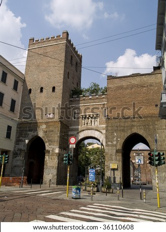 Ticinese gate, medieval gate in Milan, Italy