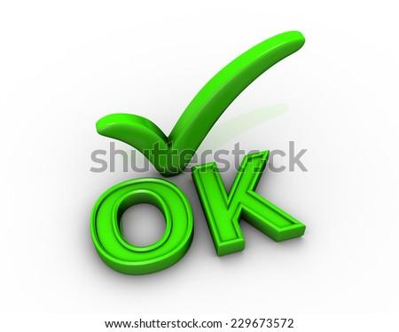 Tick icon - stock photo