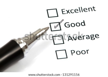 Tick placed in good checkbox - stock photo
