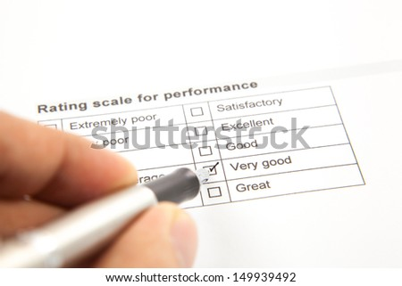 Tick placed in very good checkbox - stock photo
