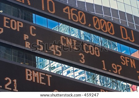 ticker - stock photo