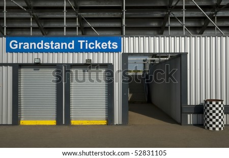 ticket booth box office for event grandstand events