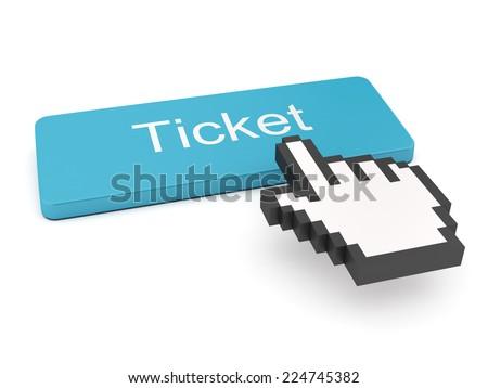 Ticket Button on Keyboard  - stock photo