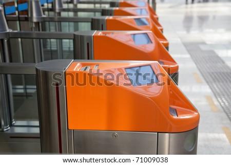 Ticket Gate - stock photo