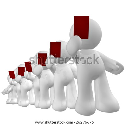 Ticket line queue - stock photo