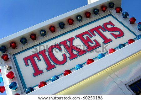 Tickets sign - stock photo