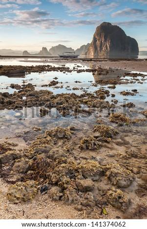 Tide at El Nido - stock photo