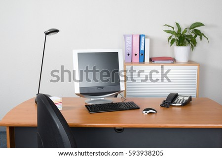 tidy office. Tidy Desk Office Chief Assistance Stock Photo (Royalty Free) 593938205 - Shutterstock