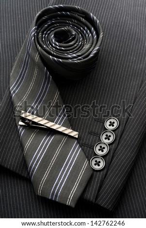 Tie and tiepin - stock photo