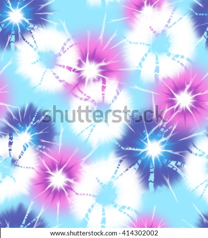 tie dye circles ~ seamless background - stock photo