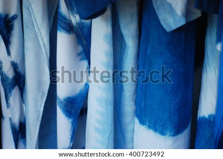 Tie dyed fabric background - stock photo
