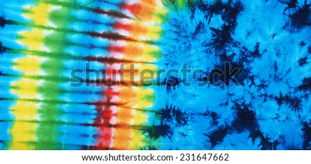 tie dyed pattern for background.