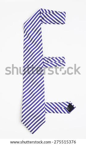 Tie in shape of alphabet letter - stock photo