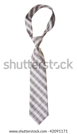 tie isolated on white background - stock photo