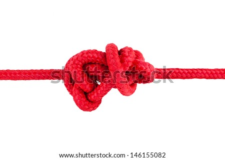 tied knot - stock photo