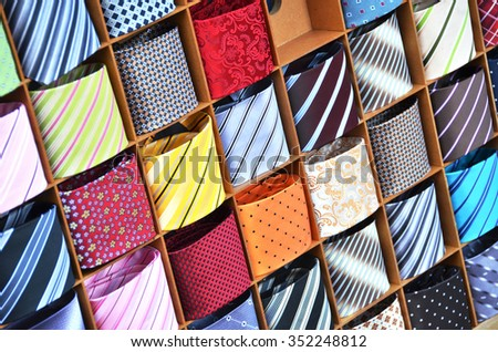 Ties on the shelf - stock photo