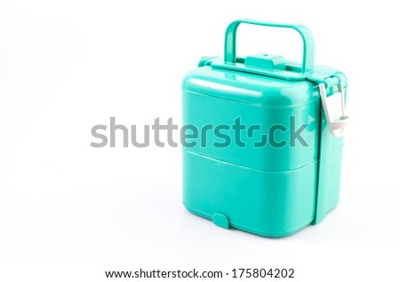 Tiffin box on isolated white background