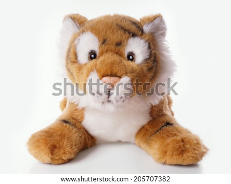 tiger as stuffed animal or cuddly toy - stock photo