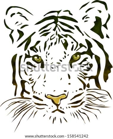 Tiger head - stock photo