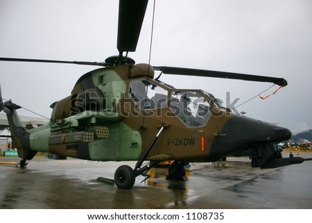 Tiger Helicopter on display