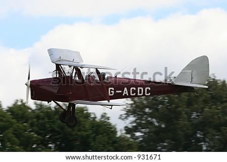 Tiger Moth biplane training aircraft - stock photo