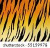Tiger pattern - stock photo