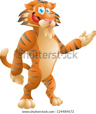 tiger presenting - stock photo