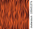 tiger skin. Illustration - stock photo