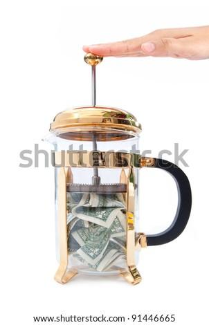 Tight budget concept - stock photo