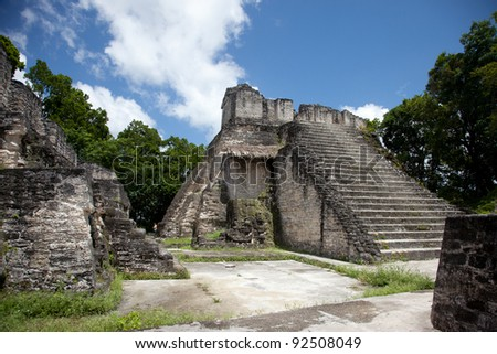Tikal, Mayan ruins in Guatemala. - stock photo