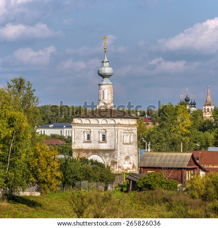 Tikhvin Church in Suzdal, Golden Ring of Russia - stock photo