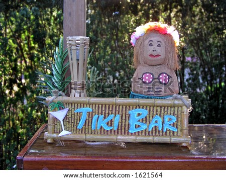 Tiki Bar - stock photo