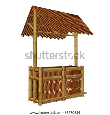 Tiki bar illustration on a white background