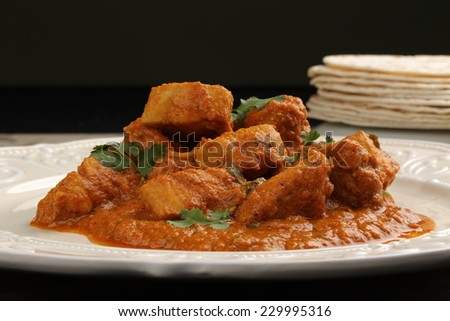 tikka masala chicken - stock photo