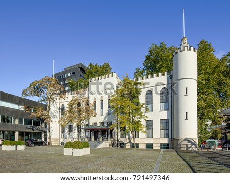 TILBURG-SEPTEMBER 23, 2017. The City Hall of Tilburg, a former palace and a part of the present town hall of the municipality of Tilburg. The palace was built by King William II of the Netherlands