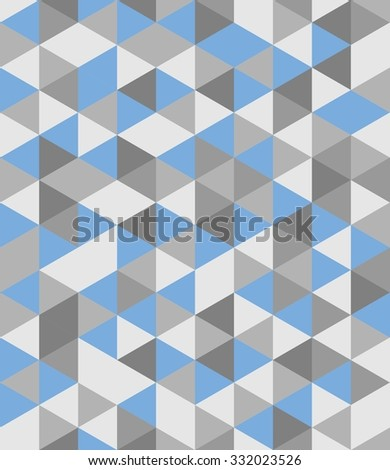 Tile background with blue and grey triangle geometric mosaic