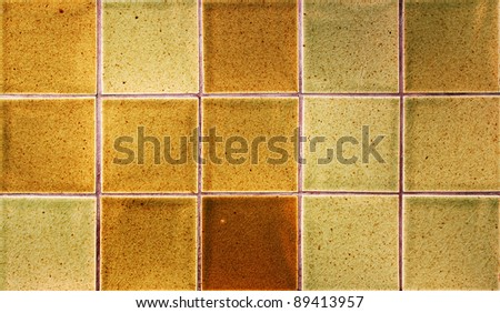 Tile mosaic Earthenware local material - stock photo