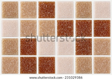 tile mosaic square decorated with glitter red pink texture background - stock photo