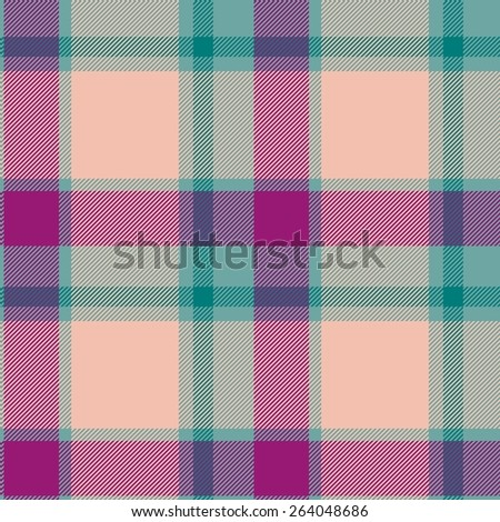 Tile of colorful tartan as seamless pattern